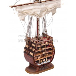 Řez Santisima Trinidad stavebnice modelu lodi Occre