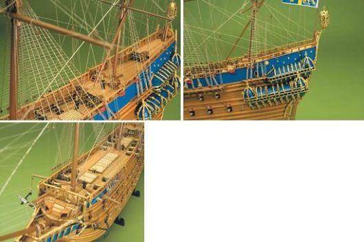 Detail modelu lodi Vasa