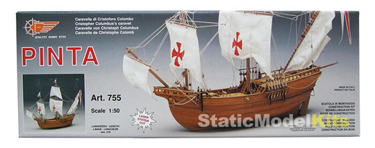 Mantua Pinta stavebnice modelu lodi - balení
