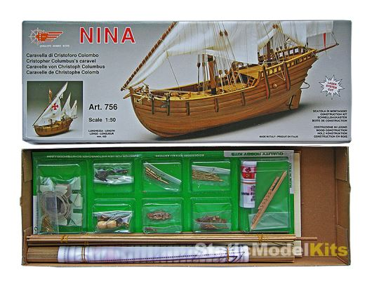 Mantua Nina stavebnice modelu lodi - balení