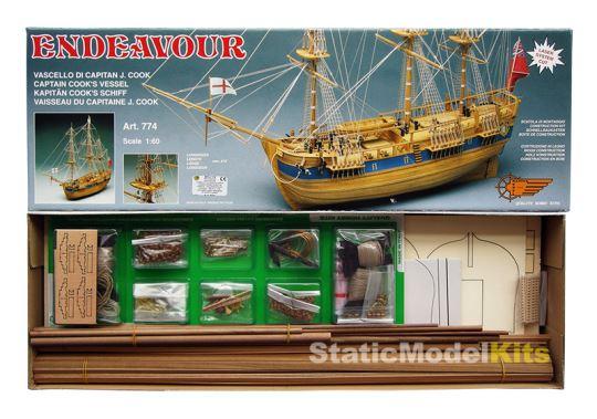 Mantua Endeavour stavebnice modelu lodi - krabice