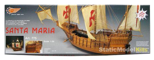 Mantua Santa Maria stavebnice modelu lodi - balení