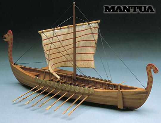 Foto hotového modelu lodi Mantua Viking
