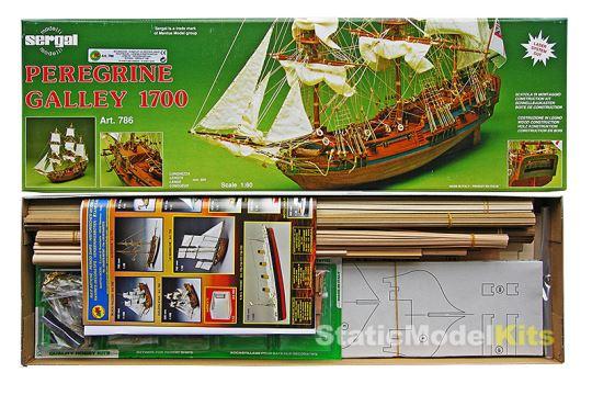Balení stavebnice modelu lodi Sergal Peregrine Galley