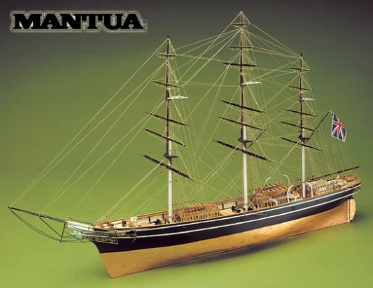 Dřevěný model lodi Cutty Sark