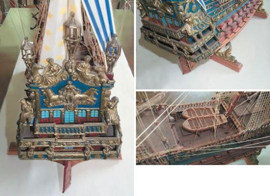 Detail modelu Le Soleil Royal