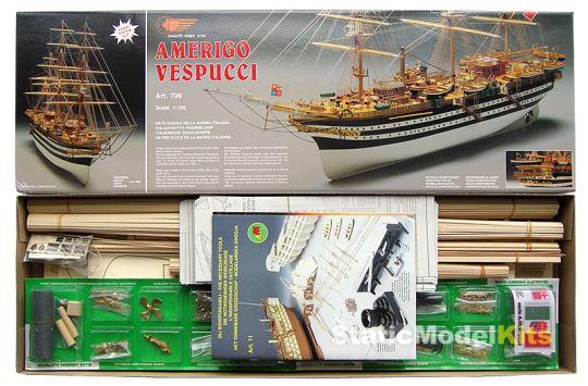 Stavebnice modelu lodi Amerigo Vespucci