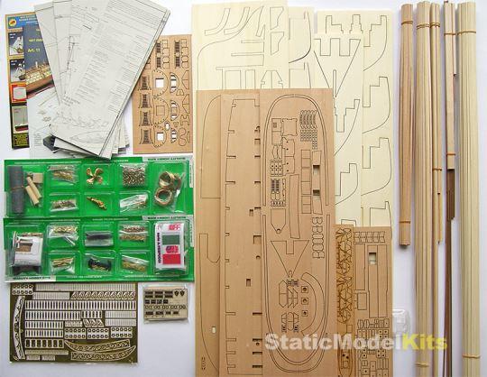 Stavebnice dřevěného modelu lodi Mantua Amerigo Vespucci 799